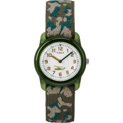 Timex Watch Youth Kids Analog 29MM Elastic Fabric Strap Green/white Item # T781419J