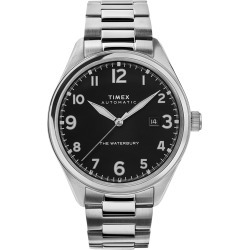 Timex Watch Men's Waterbury Traditional Automatic 42MM Stainless Steel Bracelet Steel/stainless Steel/black Item # Tw2T69800Vq