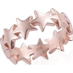 Rose Gold Overlay Sterling Silver Star Ring found on Bargain Bro UK from The Jewellery Channel