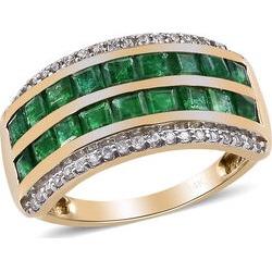 Close Out Deal- 14K Yellow Gold Premium Santa Terezinha (Princess), Natural Cambodian Zircon Ring 2.00 Ct.