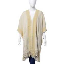 Designer Inspired Cream and Golden Wrap With Tassels (One Size fits all) found on Bargain Bro UK from The Jewellery Channel