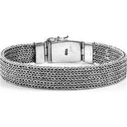 Royal Bali Collection Sterling Silver Tulang Naga Bracelet (Size 8), Silver wt 50.30 Gms.