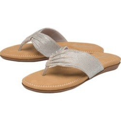 Dunlop Embellished Toe Post Slip on Flat Sandals (Size 3) - Silver found on Bargain Bro UK from The Jewellery Channel