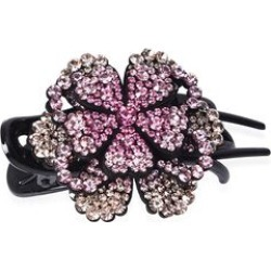 Three Teeth Flower Duck Clip - Dark Pink, Light Pink and Champagne found on Makeup Collection from The Jewellery Channel for GBP 5.75