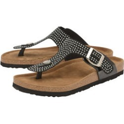 Dunlop Carmen Toe Post Flat Sandals in Black Colour found on Bargain Bro UK from The Jewellery Channel