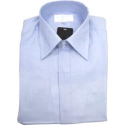 William Hunt - Saville Row Forward Point Collar Light Blue Shirt (Size 15)