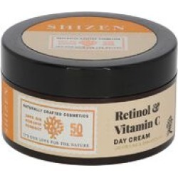 SHIZEN Retinol & Vitamin C Day Cream -Brightening Face Cream/ No Parabens 100% Organic, 50 Gms.
