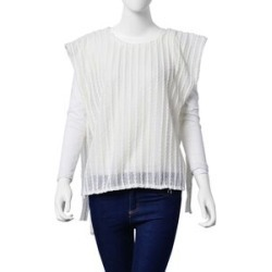 Off White Colour Woven Top with side detail (Size 80x50 Cm) found on Bargain Bro UK from The Jewellery Channel