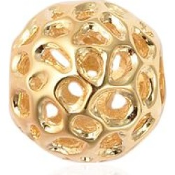 RACHEL GALLEY Yellow Gold Overlay Sterling Silver Globe Charm or Pendant