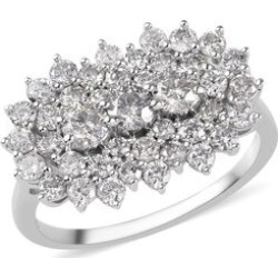 9K White Gold SGL Certified Natural Diamond (I3/G-H) Cluster Ring 2.00 Ct. found on Bargain Bro UK from The Jewellery Channel