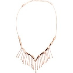LucyQ Rain Necklace (Size 16 and 4 inch Extender) in Rose Gold Overlay Sterling Silver, Silver wt 22.11 Gms. found on Bargain Bro UK from The Jewellery Channel