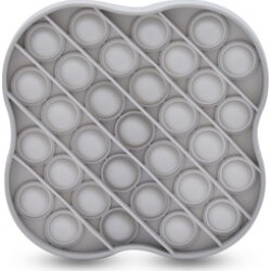 Push Bubble Stress Relieving Flower Fidget for Adults/Children in Grey (11.5x11.5cm) found on Bargain Bro UK from The Jewellery Channel