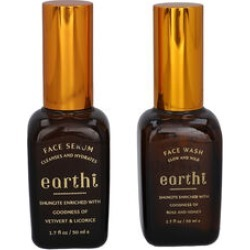 Shungite Enriched Earthi Vetiver and Licorice Face Serum with Complementary Rose Face Wash (50ml+50ml) found on Makeup Collection from The Jewellery Channel for GBP 10.31