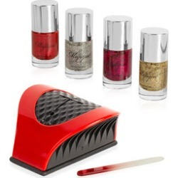 Majique: Nail Buddy Set (Incl. Nail Buddy, Crystal Nail File & 4 Glitter Varnishes) - Red found on Makeup Collection from The Jewellery Channel for GBP 27.25