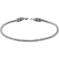 Royal Bali Collection Sterling Silver Tulang Naga Bracelet (Size 8), Silver wt 8.24 Gms