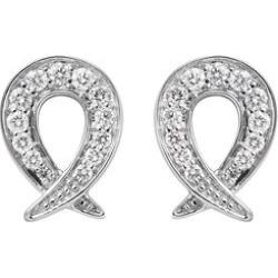 RACHEL GALLEY 950 Platinum IGI Certified Diamond (VS/E-F) Earrings (with Screw Back) 0.50 Ct.