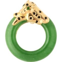 Green Jade, Russian Diopside and Boi Ploi Black Spinel Pendant in Yellow Gold Overlay Sterling Silver 22.25 Ct. found on Bargain Bro UK from The Jewellery Channel