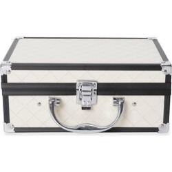 Briefcase Design Double Layer Jewellery Box with Inside Mirror and Two Extendable Trays (Size 24.5X16.5X10.5 Cm) - White Colour