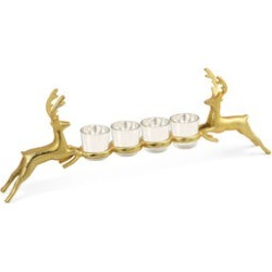 Home Decor - Nickle Reindeer Glass Holder in Gold Tone found on Bargain Bro UK from The Jewellery Channel
