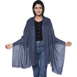 100% Cashmere Wool Dark Grey Colour Shawl (Size 190x70 Cm) found on Bargain Bro UK from The Jewellery Channel