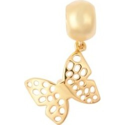 RACHEL GALLEY Yellow Gold Overlay Sterling Silver Lattice Work Butterfly Charm or Pendant