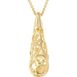 LucyQ Air Drip Pendant With Chain (Size 30) in Yellow Gold Overlay Sterling Silver 12.59 Gms. found on Bargain Bro UK from The Jewellery Channel