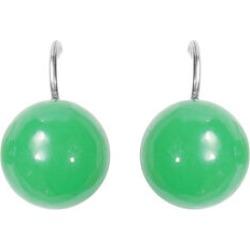 Burmese Green Jade Bead Hook Earrings in Silver Tone 41.00 Ct. found on Bargain Bro UK from The Jewellery Channel