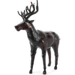 Home Decor - Handcrafted Leather Deer (Size 25x38 Cm) found on Bargain Bro UK from The Jewellery Channel