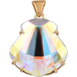 J Francis Crystal from Swarovski AB Crystal Pendant in 14K Gold Overlay Sterling Silver found on Bargain Bro UK from The Jewellery Channel