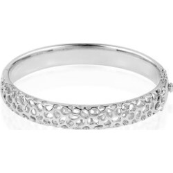 RACHEL GALLEY Rhodium Plated Sterling Silver Lattice Bangle Silver wt 38.00 Gms Size 7.5 Inch. found on Bargain Bro UK from The Jewellery Channel