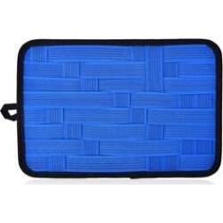 Blue Colour Grid Pattern iPod, iPhone, Blackberry and Other Digital Devices Organizers (Size 31x21 Cm) found on Bargain Bro UK from The Jewellery Channel