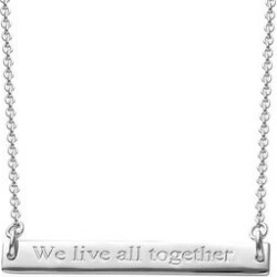 Personalised Engraved Bar Necklace found on Bargain Bro UK from The Jewellery Channel