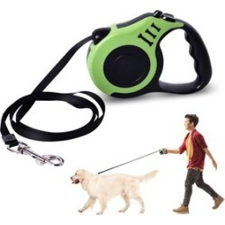 Retractable Dog Leash - Green (Rope Length: about 5m) (Size 10.5x3x23cm) found on Bargain Bro UK from The Jewellery Channel