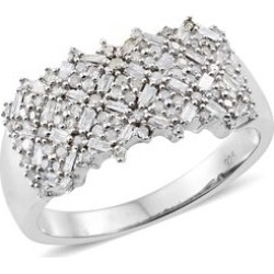 Diamond (Bgt) Ring in Platinum Overlay Sterling Silver 0.750 Ct. Silver wt 5.13 Gms. Number of Diamonds 114 found on Bargain Bro UK from The Jewellery Channel