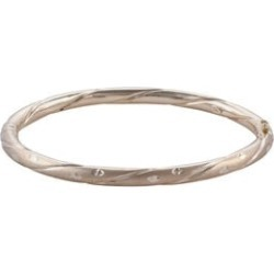 Close Out Deal 9K Yellow Gold Diamond Cut Bangle (Size 7.5), Gold wt 8.57 Gms