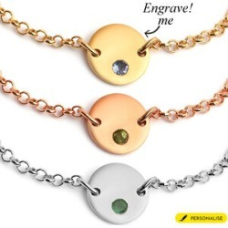 Personalised Initial Birthstone Bracelet found on Bargain Bro UK from The Jewellery Channel