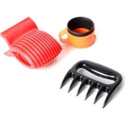 3 Piece Set - Kitchen Solution Meat Claws, Vegetable Slicer and Keep-Fresh Sealed Cap (Size 11x11x2.5 Cm)