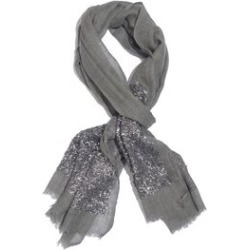 Close Out Deal Designer Inspired - Merino Wool and Mulberry Silk Shawl With Hand Done Sequin embellishment and Fringes - Grey (Size 200X70 Cm) found on Bargain Bro UK from The Jewellery Channel