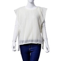 White and Off White Colour Poncho (Size 80x50 Cm) found on Bargain Bro UK from The Jewellery Channel