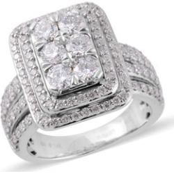 New York Close Out Diamond ( I1/I2 G-H) 14K W Gold Ring 2.000 Ct. Gold Wt 10.50 Gms