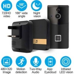 Aquarius Smart Home Video Doorbell with Chime, HD recording at 720p, Night Vision, Anti-theft Alarm and so much more found on Bargain Bro UK from The Jewellery Channel