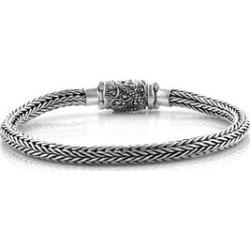 Bali Legacy Collection Sterling Silver Tulang Naga Bracelet (Size 7.75), Silver wt 28.93 Gms.