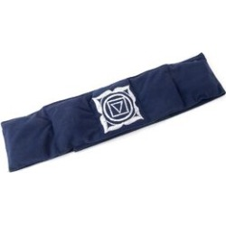 Polyester fleece fabric belt with chakra embroidery filled with shungite, Navy Colour, 10 x 122 cm