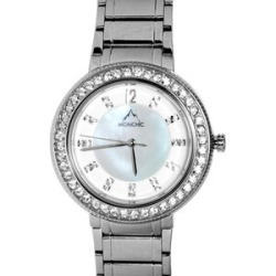 MONCHIC Parker Collection - Lady Cristale Edition Swiss Precision Oscillation Stainless Steel Wrist Watch found on Bargain Bro UK from The Jewellery Channel