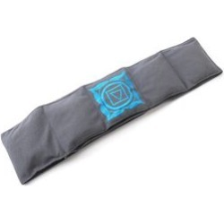 Polyester fleece fabric belt with chakra embroidery filled with shungite, Grey Colour, 10 x 122 cm