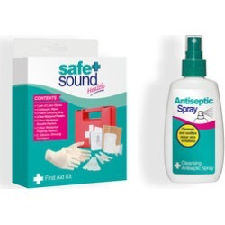 Safe & Sound First Aid Kit & Anti-Septic Spray - 100ml (Set of 2) found on Makeup Collection from The Jewellery Channel for GBP 7.74