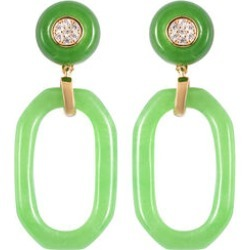 Green Jade and Natural Cambodian Zircon Earrings (with Push Back) in Yellow Gold Overlay Sterling Silver 21.70 Ct. found on Bargain Bro UK from The Jewellery Channel