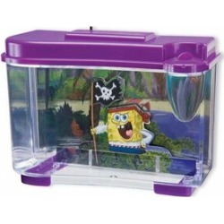 3D Spongebob Fish Tank with LED Night Light (4 AAA Batteries not Included) found on Bargain Bro UK from The Jewellery Channel