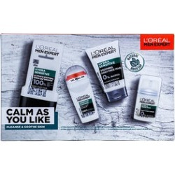 LOreal Men Expert: Calm As You Like (Incl. Natural Birch Sap HYDRA SENSITIVE - Shower Gel 300ml, Soothing Daily Face Wash 100ml, Soothing Daily Moisturiser 50ml & Roll-on Deodorant 50 ml) found on Makeup Collection from The Jewellery Channel for GBP 20.04