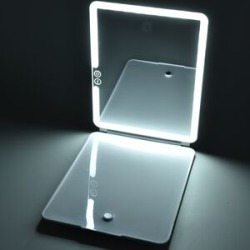 Stylish Marble Look 36 LED Rechargeable IPAD Mirror with Touch Sensor and USB Cable (Size 19x25.2x2.4 Cm) found on Makeup Collection from The Jewellery Channel for GBP 33.54